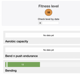 All clients are automatically a part of the Fitness Levelling system and you can check their level with a single click.
